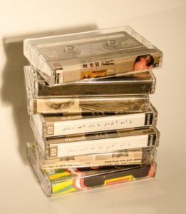 stack of tapes from Eric