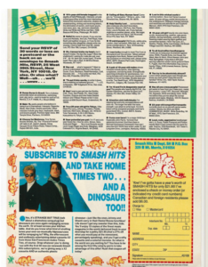 RSVP page of Smash Hits