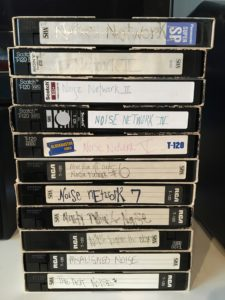 stack of vhs tapes photo