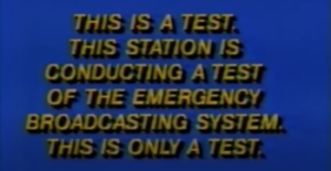 Emergency Broadcast System screen